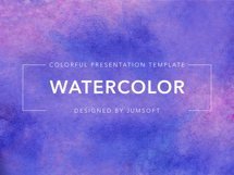Watercolor Keynote Template Product Image 6