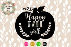 Happy Fall Y'all SVG , Dxf, Eps, Png Fal Product Image 1