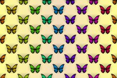 Set of colorful butterflies clipart Product Image 6