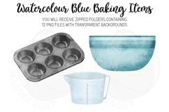 Blue Baking Equipment Watercolour Clipart Product Image 5