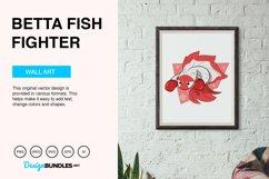Betta Fish Fighter Vector Illustration Product Image 2