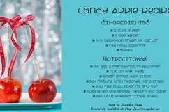 Candy Apple | A Cute and yummy font Product Image 4