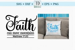 Faith Can Move Mountains Matthew Verse 17, A Scripture SVG Product Image 1