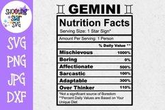 Zodiac Nutrition Facts SVG Bundle Product Image 5
