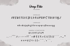 Ohayo Billie | Handwritten Font Product Image 4