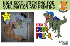 T-Rex Dinosaur Ready To Crush Pre-K Sublimation Product Image 1