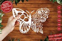 Papercut Beautiful Butterfly Floral Arrangement Product Image 1