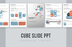 Cube Slide PPT Template Vertical Product Image 1