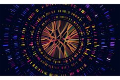 Genome data. Genetics sequence barcode visualisation, dna te Product Image 1