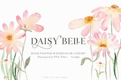 Watercolor Floral Clipart - Daisy Belle Product Image 1