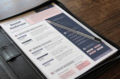 Clean Editable Resume Cv Template in Word Apple Pages Product Image 3