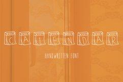 Calendar handwritten font Product Image 1