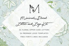 MINIMAL FLORAL LETTER AND LOGO KIT Product Image 2