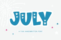 July - A Fun Patriotic Font Product Image 1