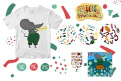 Cute collection with funny musical mouse. Mr. Trumpet Product Image 2