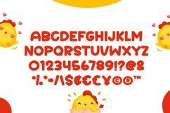 Cute Chicken - Cute Display Font Product Image 3