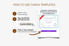 Classic Certificate of Completion Editable Canva Template. Product Image 2