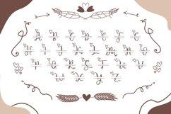 Couple Monogram Font & Wedding Ornament Product Image 5