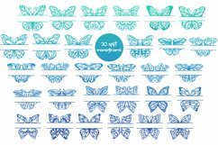 60 Butterfly SVG cut files - simple & split monogram Product Image 4