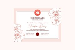 Rose Certificate of Completion Editable Canva Template. Product Image 6