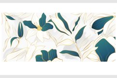 Vector banner with gold flowers Product Image 6