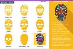 Sugar Skull 3D Layered SVG Cut File Product Image 5