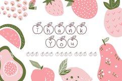Apple Fruit Font Product Image 5