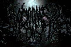 SUICIDE brutal death metal font #2 Product Image 4
