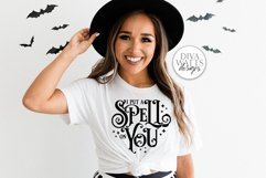 I Put A Spell On You SVG | Halloween Witch Word Art Design Product Image 2