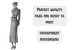 Vintage Fashion Clipart, 1920s Clipart, Cardmaking Product Image 5