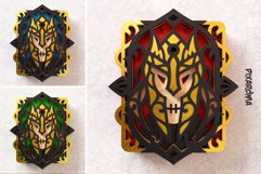 Evil Knight Wall Art 3D Layered SVG Cut File Product Image 5