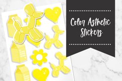 Yellow   Color Asthetic Stickers Product Image 1