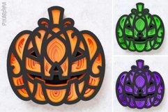 Halloween Pumpkin 3D Layered SVG Cut File Product Image 5