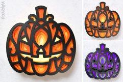 Halloween Pumpkin 3D Layered SVG Cut File Product Image 6