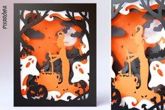 Halloween Wall Art 3D Layered SVG Cut File Shadowbox Product Image 5