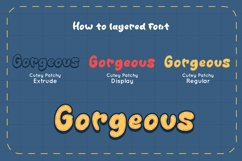 Cutey Patchy - Display Font Product Image 4