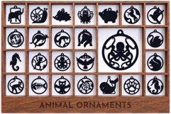 Laser Cut Files Vol.3 - 50 Animal Ornaments Bundle Product Image 5
