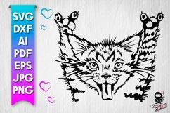 Rock Cat SVG cut file Product Image 1