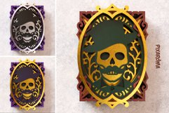 Skull Portrait Wall Art 3D Layered SVG Cut File Product Image 5