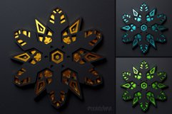 Snowflake 01 3D Layered SVG Cut File Product Image 5