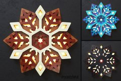 Snowflake 03 3D Layered SVG Cut File Product Image 5