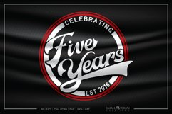 5 years, 2016, Five Years SVG, 5th Birthday SVG Product Image 1