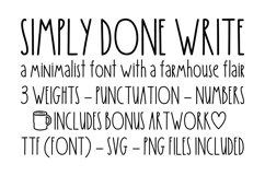 Simply Done Write Farmhouse 3 Weights Font Family & Dingbats Product Image 1