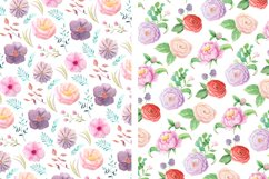 Summer Floral Seamless Patterns Product Image 3