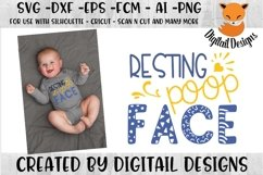 Baby Resting Poop Face SVG Cut File Product Image 1