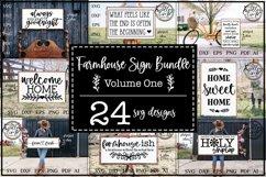 Farmhouse Bundle | 24 Rustic Farmhouse SVG Designs Product Image 1