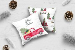 Farm fresh christmas trees, Red old farm car clipart Product Image 4