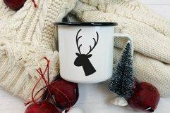 Oh deer Christmas is here. Oh deer SVG. Reindeer Head SVG. Product Image 5