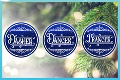 Reindeer Names Round Ceramic Ornament Christmas Bundle SVG Product Image 2