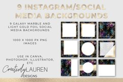 Galaxy Marble and Light Gold Foil Instagram Templates Product Image 1